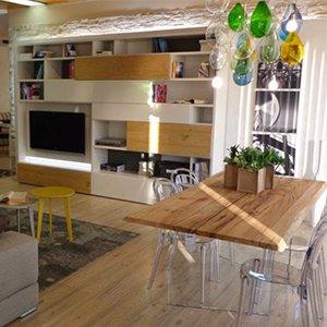 Scarpiera con anta a specchio arredamento online abitastore for Tavoli living moderni